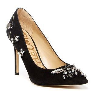 Sam Edelman Dress Pump Jewel Embellished Gem Heels